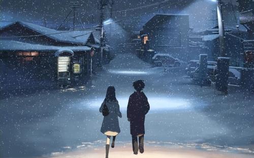 5 Centimeters Per Second snowy scene