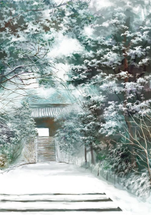 Snowy shrine