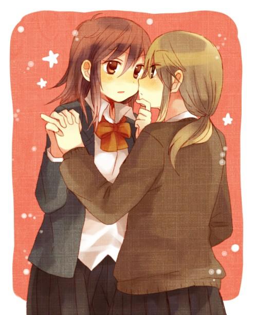 A cute yuri couple for you!