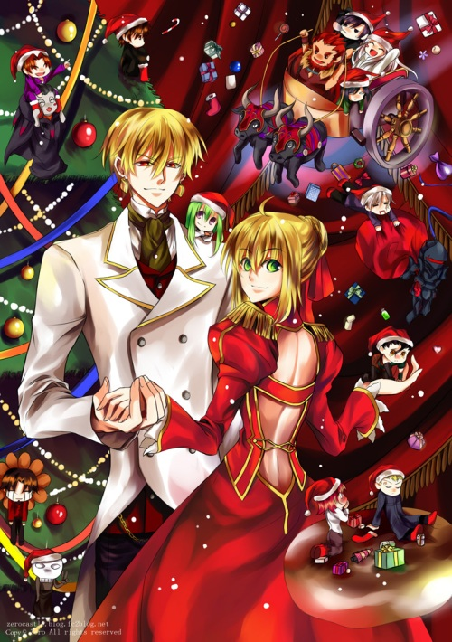 Can't say that I approve of Gilgamesh and Saber together...