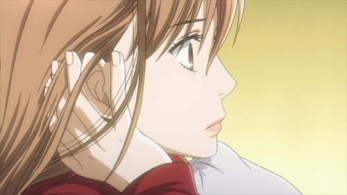 Chihaya listening intently.